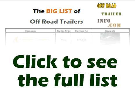 List of Off Road Trailer Options